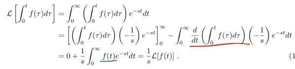 積分の微分について質問です。赤部分が f(t) となるのはなぜですか。