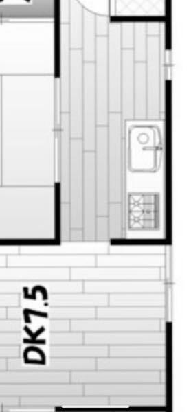文章が間違っていた為再投稿致します。 こんな感じのキッチンをどうにか広く使う方法はございますか??