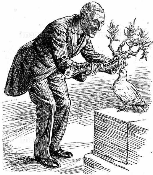 こちらの風刺画の意味を教えてください。木を鳥に差し出しているが木が小さすぎたり折れているというのがポイントなのでしょうか?
