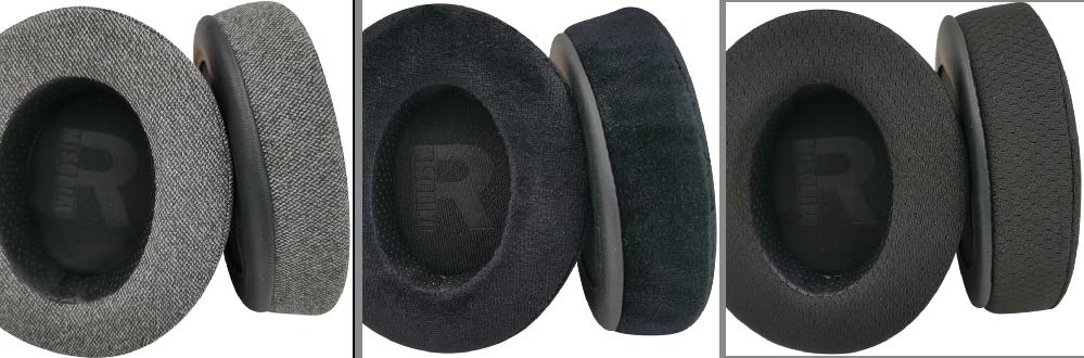 ヘッドホンのイヤーパッドを合皮レザーから布、ベロア、メッシュに変えた時の音質の変化具合と音漏れ具合の比較をそれぞれ教えて欲しいです よろしくお願いします