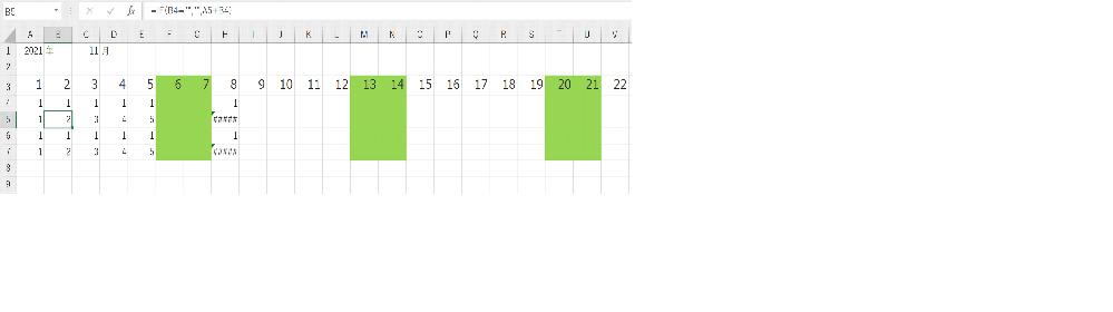 """Excelについての質問です。 日付を自動で入力できるシートにて土日に色付けされており、4行目が注文数、5行目がその累積数となっています。累積数に関してはB列目から数式を=IF(B4="""""""","""""""",A5+B4)で入力し横にオートフィルしております。その際土日は注文は入力せず累積数をエラーにしないようにすることはできますか? もしくは土日の欄に自動で注文数を0でいれるようにしたいです。そういったことは可能でしょうか?何卒、ご教授のほどよろしくお願いいたします。"""