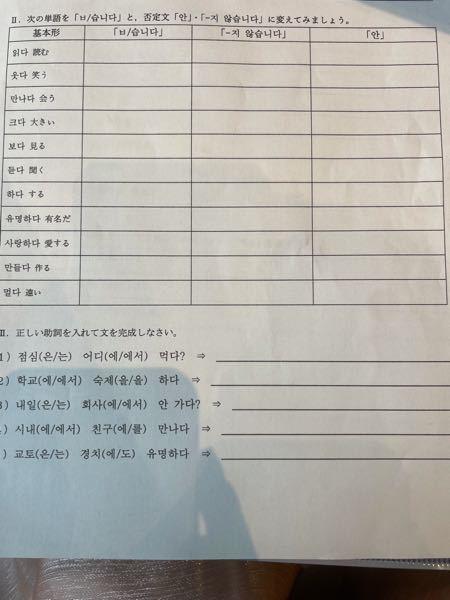 韓国語の課題です。 ここの部分が分からないのでわかる方お願いします!!