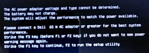 Dellのノートパソコンなのですが、起動するとこのようなものが出てきました これはどういう意味ですか?