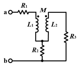 この電気回路の問題を教えて下さい。 画像の回路において、端子a-b 間の合成インピーダンスを求めよ
