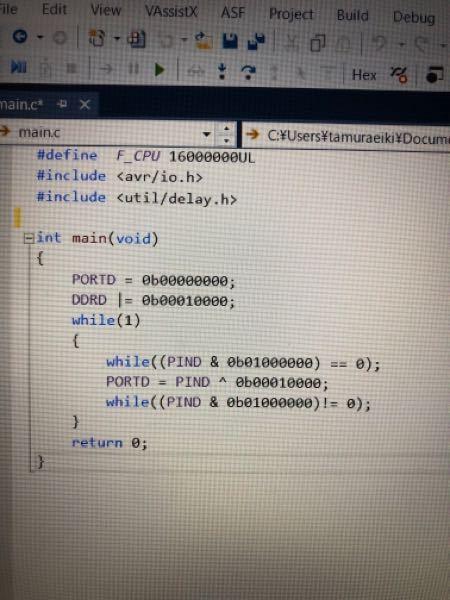c言語の課題でチャタリング対応のプログラムを作る課題が全くわかんないです。誰か教えてください!