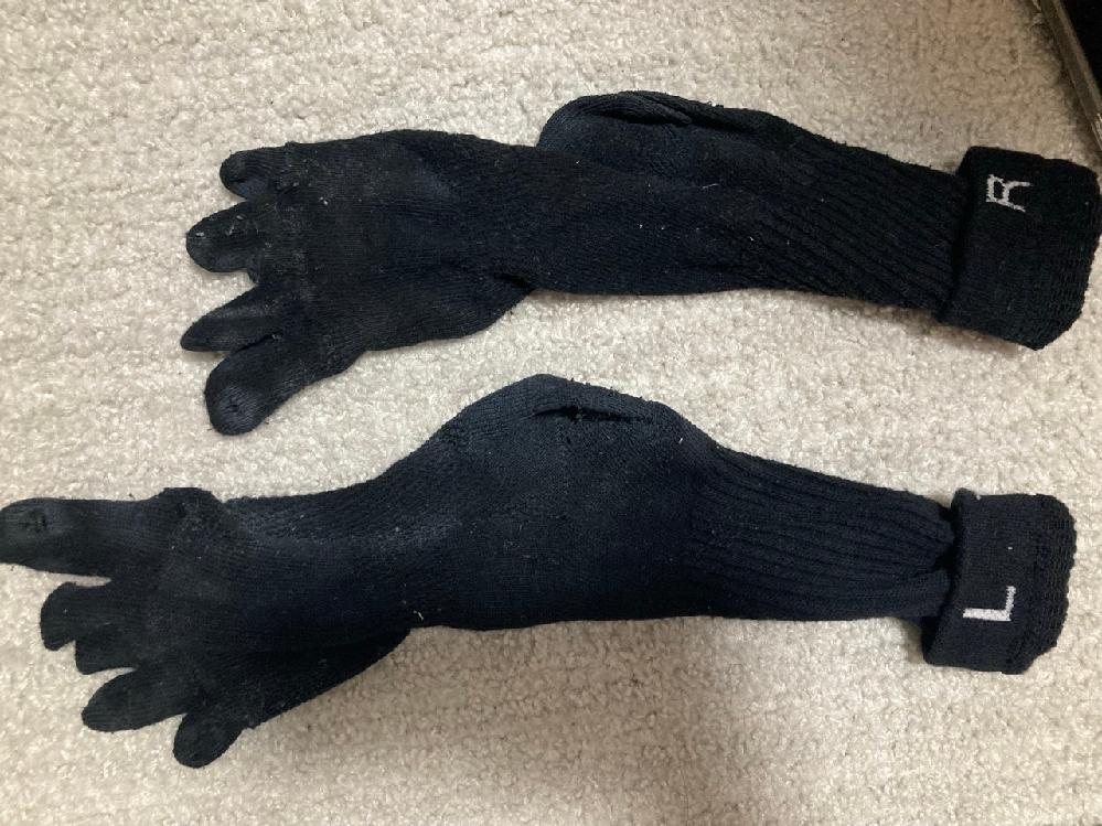 作業用靴下の5本指、3足入りで内側にLRと表示されている物を探しています。 使用済みで見にくいとは思いますが写真も乗せています。 今まで買っていたところが販売を辞めたため困っています。 皆様ご協力をお願いします。