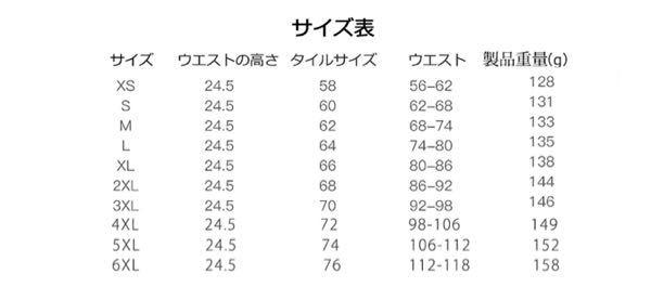 こちらのサイズ表の見方を 教えてください。 自分のウエストをみて タイルサイズを選んで購入ですか?