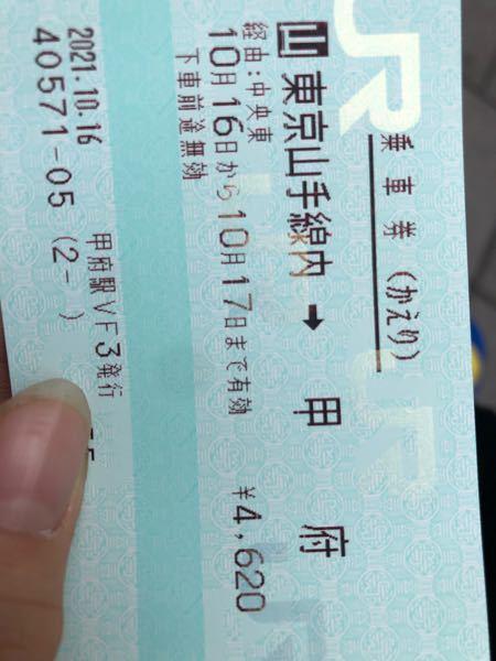 新宿駅からこの件だけで甲府まで帰れますか