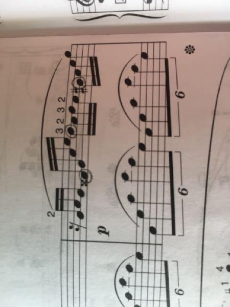 幻想即興曲で左と同時に弾く箇所は丸したところで合ってますか? 間違ってたら場所を教えてください。