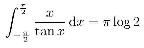 積分の問題です 機械任せでで画像の結果が得られたのはいいものの、自力で計算できません 好手かはわかりませんがKingPropertyで(与式)=int_0^(π/2) (πtanx-2xtanx)dx は出ました