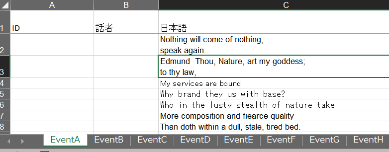 VBAで質問です。 あるエクセルファイルのC列の各行に日本語のセリフが入力されていて 同じような形式のシートが30シートほどあった場合、 すべてのシートのC列の文字数をカウントして集計した値をメッセージボックスに表示させるにはどのようにすればよいでしょう。 これまでは一つひとつLen関数で調べていのですが、数十シート、数百行もあるとかなりしんどいので楽な方法があれば教えていただきたいです。