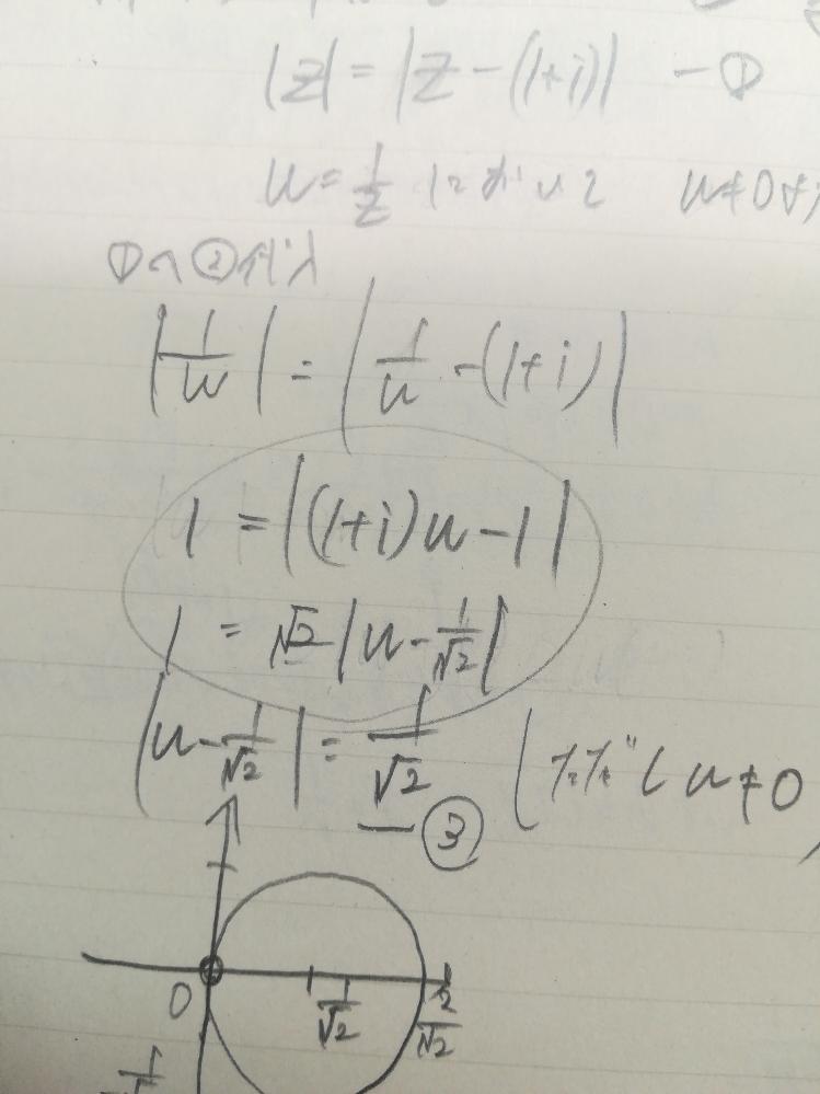 この変形は複素数が示す回転の要素が消えてしまっているため間違いと指摘されました。 iが絶対値の中にいるときは外に出すことが出来るのはどういうことですか??? 数学強者さまたすけてください!!!