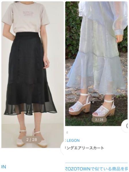 この黒いスカートは何月から何月くらいまで履けるものだと思いますか? 素材は右側の画像の方がわかりやすいと思います。 ちなみにMAJESTIC LEGONのスパークリングエアリースカートという商品です。 無知で申しわけありませんが、回答よろしくお願いいたします。