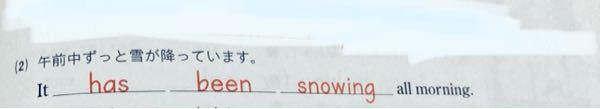 雪が降るのは状態だと思うのですが、なぜ動作を表す現在完了進行形なのですか?