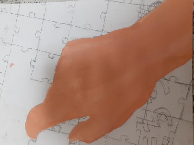 至急、助けてください。 なんか上手く塗れません。 何回も上から塗ってるうちに線からはみ出てしまって指が太くなってしまいました。 どう塗り直したら綺麗になおりますか? 語彙力すみません…
