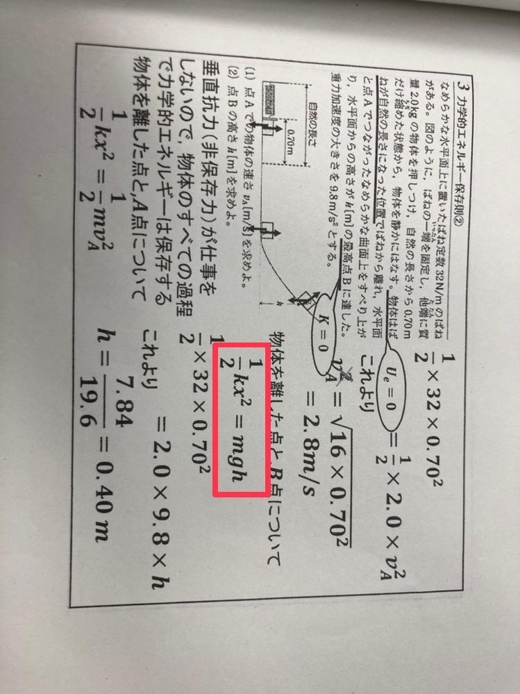 高一物理 どうしてこのような式が成り立つのか教えて頂きたいです!
