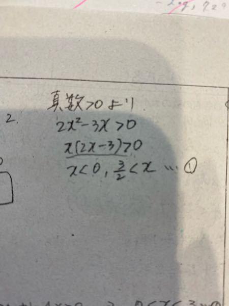 至急!!!!! 何故Xが0よりも小さくなるのでしょうか?