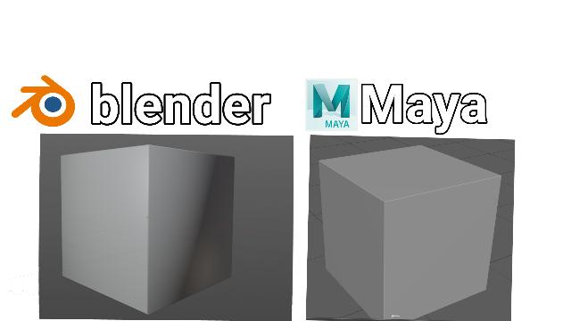 blenderとmayaのソフトエッジにした時の感じが結構違って見えます。元々mayaを使っていたのでこのハイライトの感じが慣れないのですがmayaに近いハイライトで表示することはできませんか?