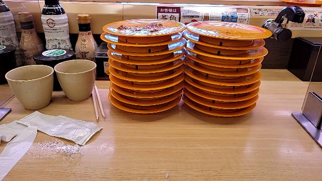 このお寿司を枚数を見て、どう思いますか?