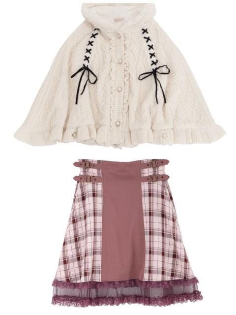 このポンチョとこのスカート、合いますか? お礼50まい。