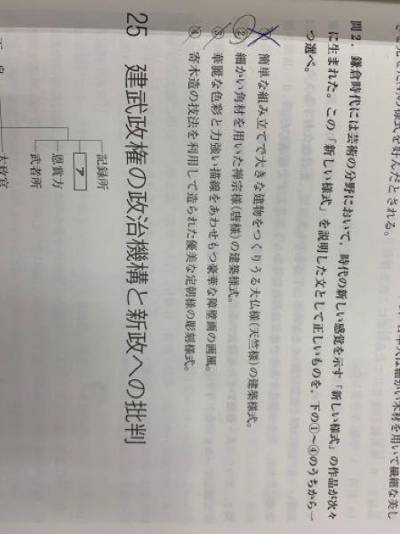 日本史が得意な方に質問です 問2番を教えて欲しいです。なぜ、(2)がダメなのか分かりません。よろしくお願いします! 解説 ②誤文。禅宗様(唐様)は、細かい部材を積み上げて精巧な美しさを生み出す建築技法である。