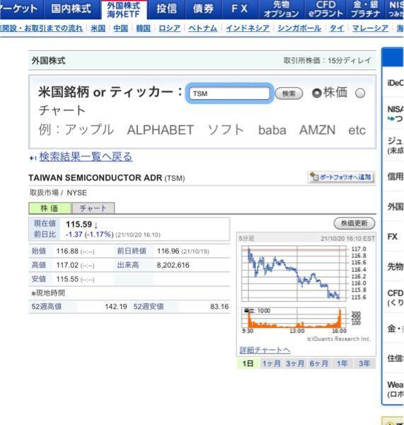 株に詳しい方。TSMCの株が欲しいのですが、SBI証券で買うのはこの会社のページで合ってますか?購入ボタンが無いのですがなぜでしょうか?