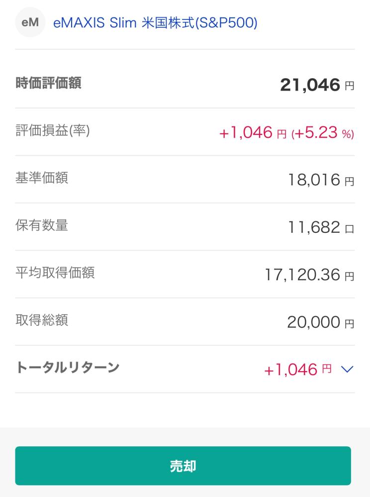 楽天証券の積立NISAで利益が1000円出ているのですがその利益分を出金することはできるのですか?
