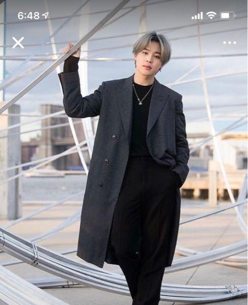 こちらのコートがどちらのブランドのものかわかる方いたら教えていただきたいです ジミン BTS チェスターコート