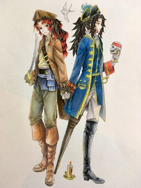 高2です。鬼滅の刃の継国兄弟の海賊衣装verです。アドバイスお願いします。
