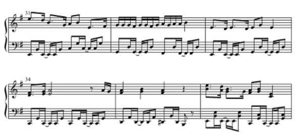 楽譜読める方助けてください…… この楽譜をドレミで教えてください!! お願いします!! ネットの動画のスクショの楽譜なのでリズムは大丈夫です! 「譜読みをできるようにした方がいい」とのご指摘は大変ありがたいのですが、暇つぶし程度に弾いてる者なので譜読みは習得しなくても大丈夫です!!