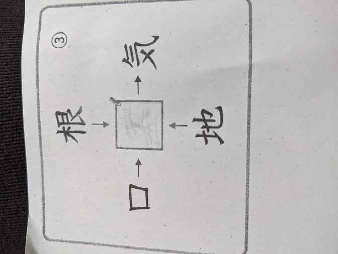 小5のプリントです。教えて下さい。 □に当てはまる漢字を書き、4つの熟語を作りましょう。
