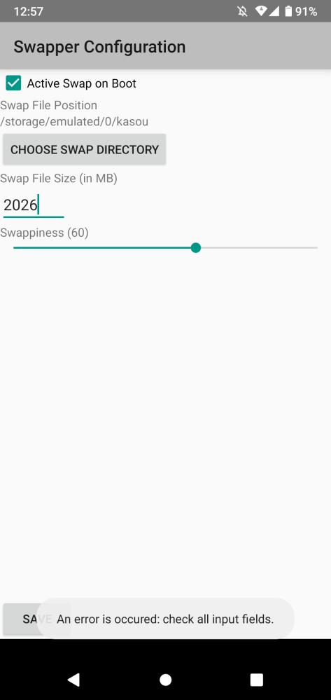 Androidのswapperにて。 下のような文字列が出て行えません。理由と対策法を知っている方は教えて頂きたいです。
