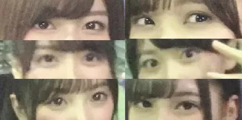 坂道パーツクイズPart366 画像の、現役または元坂道メンバーは 左の上中下、右の上中下、それぞれ誰と誰と誰と誰と誰と誰でしょう? 正解者には500枚(゜∀゜)