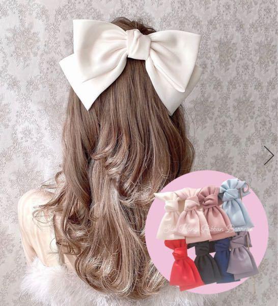 この中で黒髪でも似合うバレッタの色を 教えてください; ; フレンチガーリー 量産型