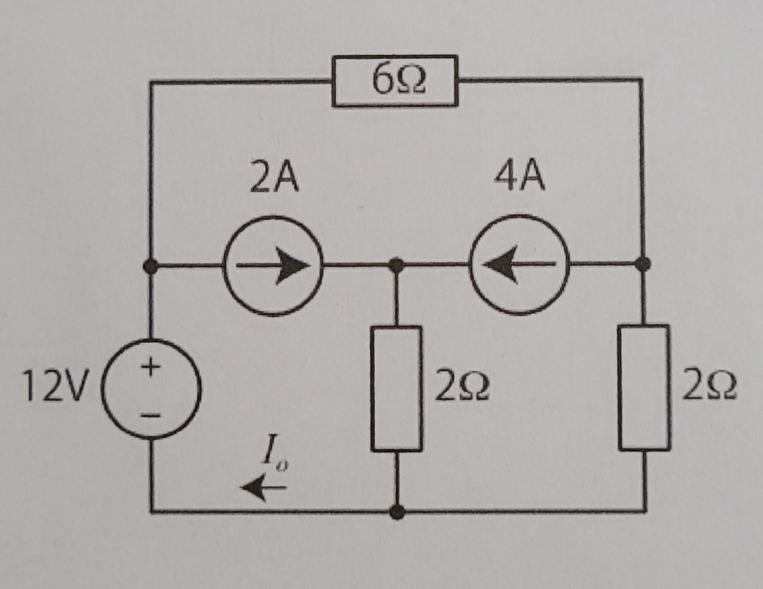 【50枚】この図における電流I_0をテブナンの等価回路を用いて算出せよ。 この問題について解説お願いします。