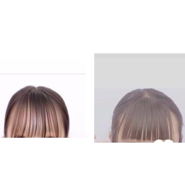 前髪について左のような前髪にしたいです!どうしたはなれますか、?