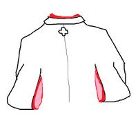 羽織と着物の袖幅が合いません。応急処置を教えてください。 絵がへたくそですが。着物に羽織を重ねた、後姿のイラストです。  羽織と着物の袖幅が異なっています。着物の方が1センチほど袖幅が広く、 そのため、羽織の振り口から、着物が飛び出してしまいます。  袖丈は合っています。また、羽織を裄出しし、着物と合わせました。 (袖と肩それぞれから出して裄をだしたため、肩の方の袖幅は広くなった...