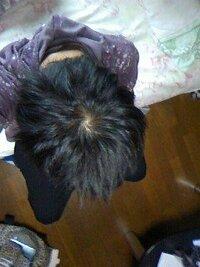 つむじ辺り薄毛ですか↓  率直な感想下さい   ワックスつけての写メです↓