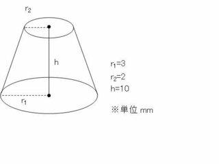 体積 円錐