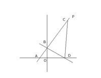 ベストアンサーには 250枚出します 図において、pは直線y=3分の4x+4を表し、A,Bはそれぞれpとx軸、y軸との交点である。また、Cはp上に、DはX軸上にあって、AC=2ADであり、三角形CADの面積が三角形BADの面積の4倍となる。点C、Dのx座標は正とする。  点Aの座標を求めよ。  点Cの座標を求めよ。  2点B、Dを通る直線の方程式を求めよ。求め方も書け。  ...