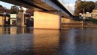 多摩川丸子橋、原付でシーバス釣り 丸子橋の方にシーバス釣りに行ってきました。   デイゲームだったのですが、大潮満潮近くのときに堰により近いひとが立て続けに2本揚げてました。   どちらもギリギリフッコクラスだったと思います。   私は橋近くのとこからやっていましたが、川底が浅いのか、Fミノーがガンガン底に当たっている感じで、ボウズでした。   ここで質問なのですが、...