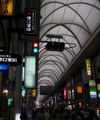 赤と青が同時に点灯している歩行者信号。 本日、広島市内のアーケード街を歩いていると、赤と青が同時に点灯している歩行者信号を見かけました。  今まで見たことがなく、通行人も数人、デジカメで写真を撮って...