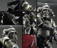 全身金属鎧系のコスプレ素材について コスプレ初心者なので教えてください。  金属鎧のコスプレ素材は何が一番メジャーでしょうか? イメージしているのはFF12のジャッジマスターの鎧です。 すぐに壊れないよ...