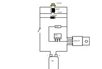 レーザーダイオードを光らせたいのですが  http://akizukidenshi.com/catalog/g/gI-01330/   このLDをつかって、  したの実体図のもので駆動しますか? 使用パーツ  1N4002  DL3247  47μF50Vコ...
