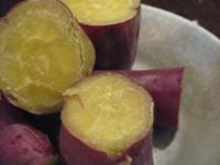 ふかし芋(さつまいも)の皮を食べますか?