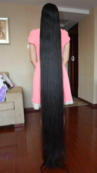 身長より長い髪